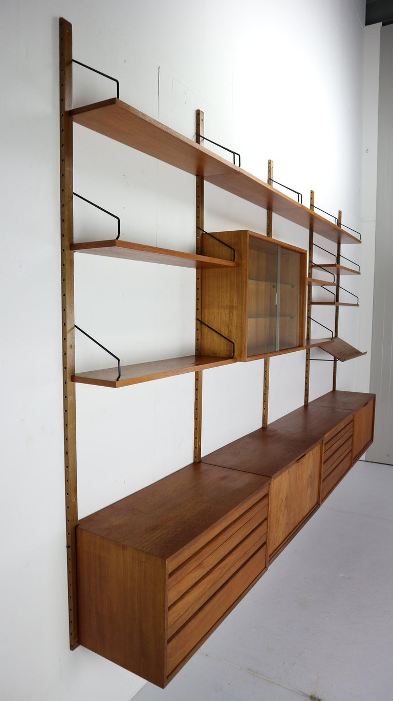 Danish Extra Large Poul Cadovius for Royal System Wall System or Shelving Unit, 1950s
