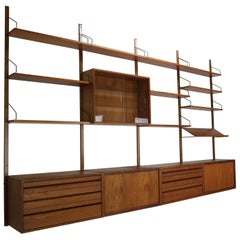 Extra Large Poul Cadovius for Royal System Wall System or Shelving Unit, 1950s