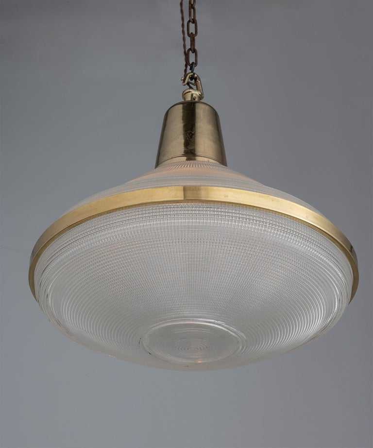 English Extra Large Prismatic Deco Lights, England circa 1920 For Sale