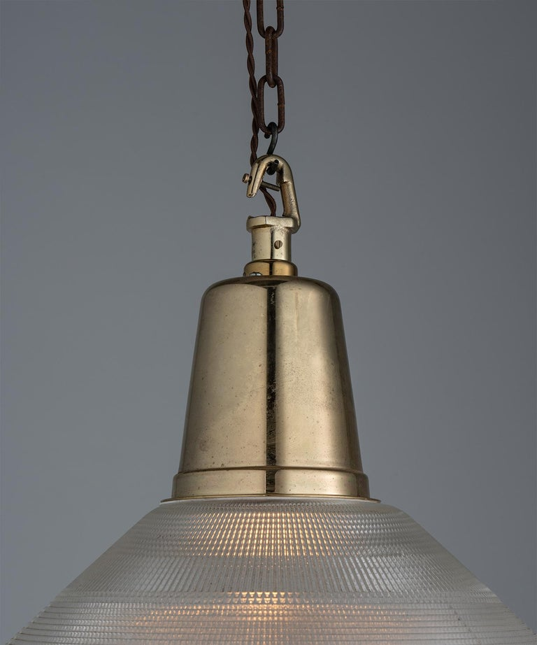 Extra Large Prismatic Deco Lights, England circa 1920 In Good Condition For Sale In Culver City, CA