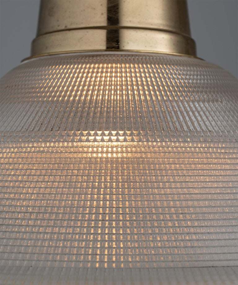 Early 20th Century Extra Large Prismatic Deco Lights, England circa 1920 For Sale