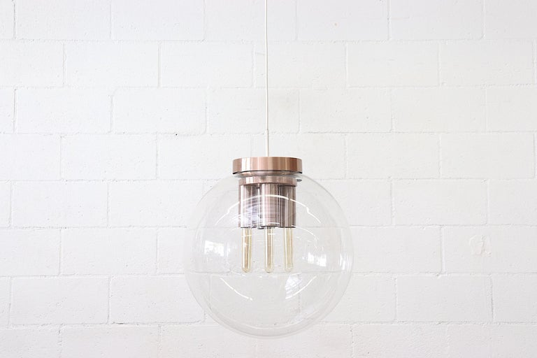 Extra Large RAAK Blown Glass Ceiling Lamp For Sale 3