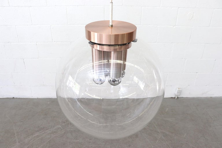 Extra Large RAAK Blown Glass Ceiling Lamp In Good Condition For Sale In Los Angeles, CA