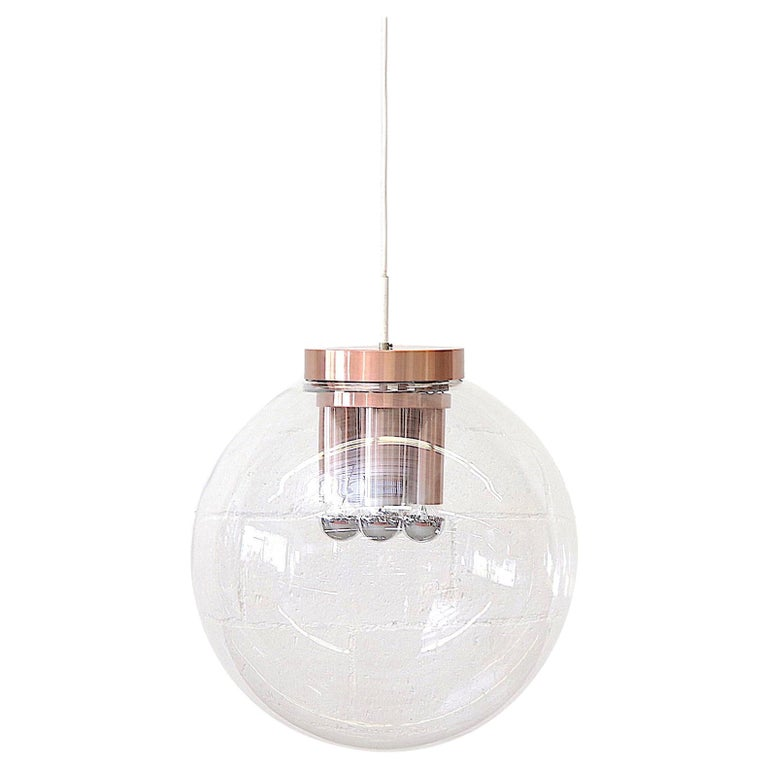 Extra Large RAAK Blown Glass Ceiling Lamp For Sale