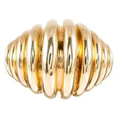 Tiffany & Co. Extra-Large Ridged Golden Ring