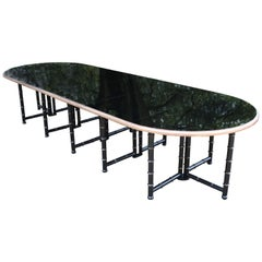 Extra Large Six Shelves Faux Bamboo Dining Table