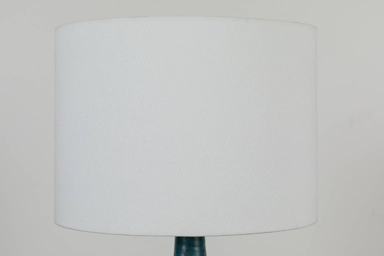 Extra large turquoise bottle lamp by Victoria Morris for Lawson-Fenning.
