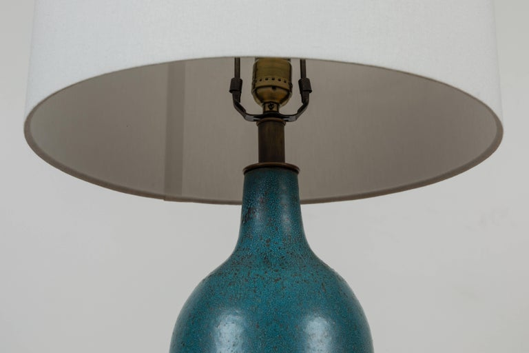 Extra Large Turquoise Bottle Lamp by Victoria Morris for Lawson-Fenning In Excellent Condition For Sale In Los Angeles, CA