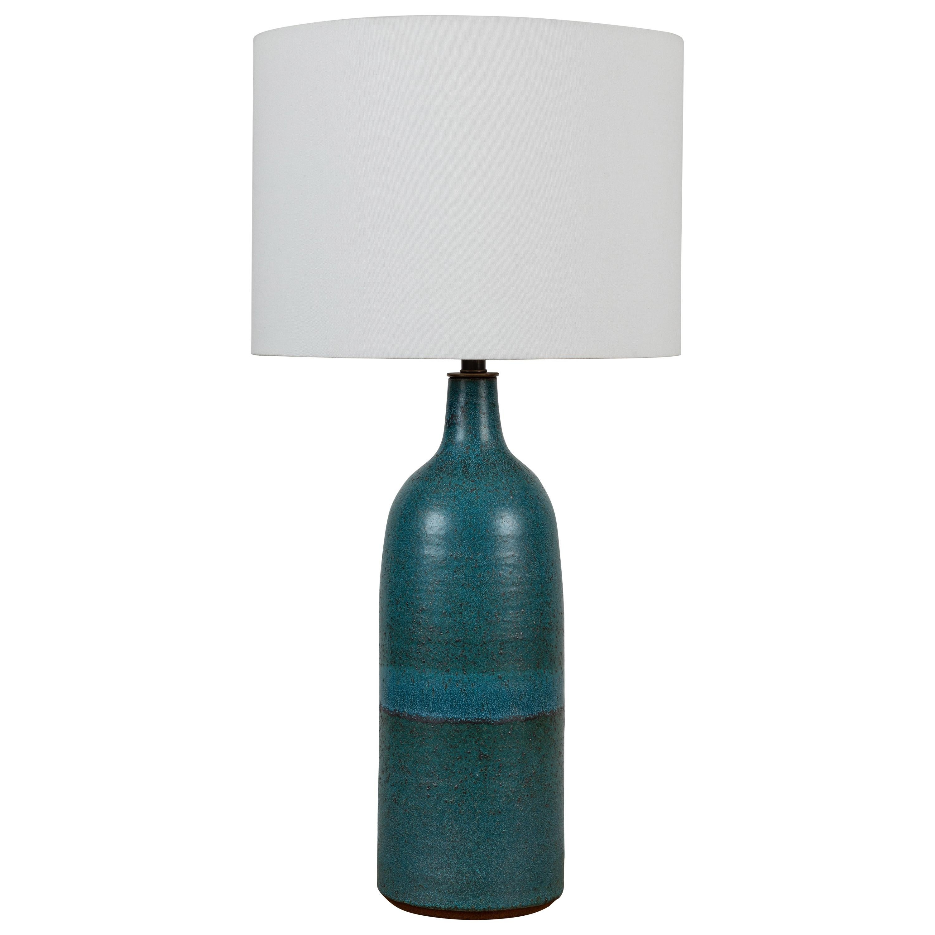 Extra Large Turquoise Bottle Lamp by Victoria Morris for Lawson-Fenning