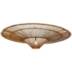 Extra Large Umbrella Shaped Bamboo Chandelier, Indonesia, Contemporary