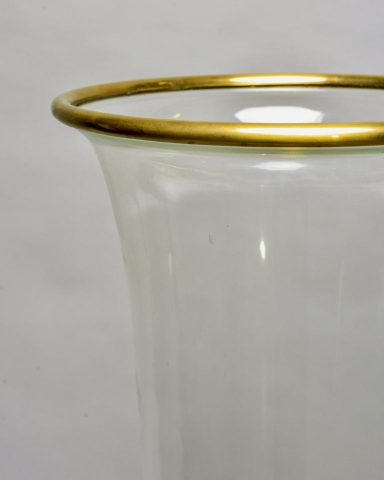 Mid-Century Modern Extra Large Vintage Chapman Brass Hurricane Style Candleholder