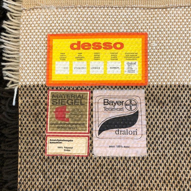 Extra Large Vintage Colorful High Pile Rug by Desso, Netherlands, 1970 11