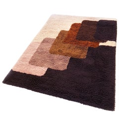 Extra Large Vintage Colorful High Pile Rug by Desso, Netherlands, 1970
