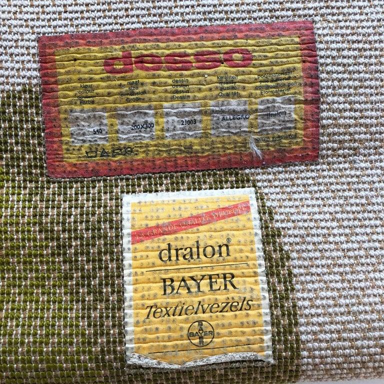Extra Large Vintage Multi-Color High Pile Rug by Desso, Netherlands, 1970s For Sale 11