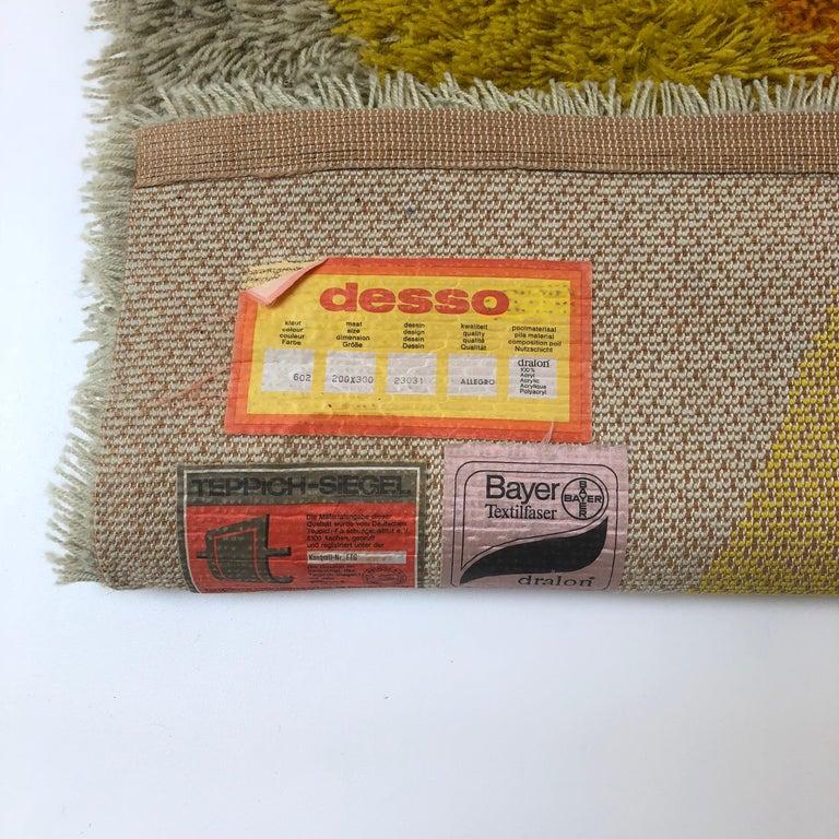 Extra Large Vintage Multi-Color High Pile Rug by Desso, Netherlands, 1970s For Sale 13