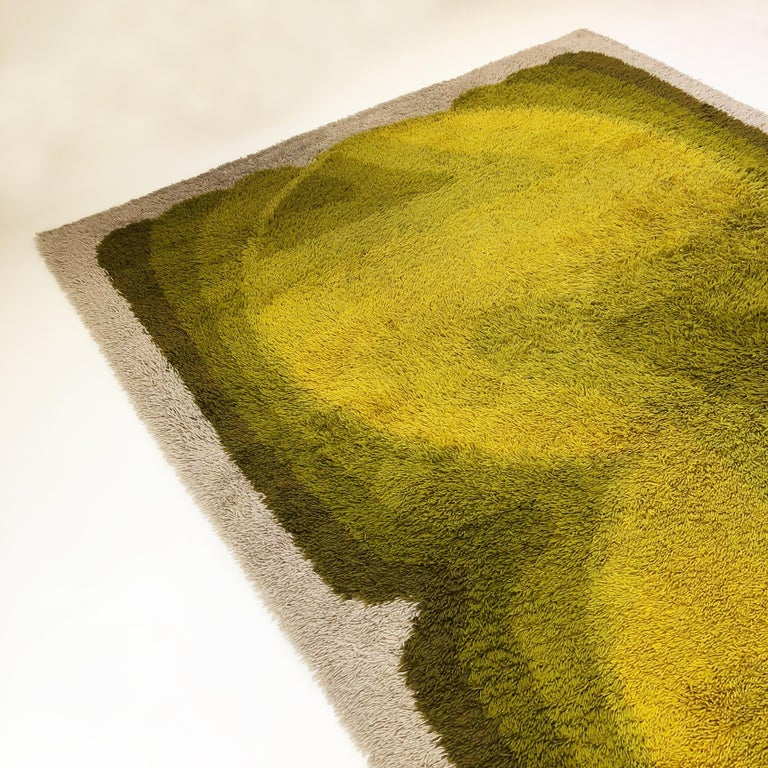 20th Century Extra Large Vintage Multi-Color High Pile Rug by Desso, Netherlands, 1970s For Sale