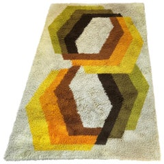 Extra Large Vintage Multi-Color High Pile Rug by Desso, Netherlands, 1970s
