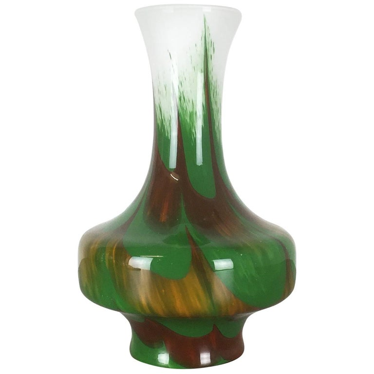 Extra Large Vintage Opaline Florence Vase Design by Carlo Moretti, Italy