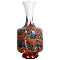 Extra Large Vintage Pop Art Opaline Florence Vase Design 1970s, Italy