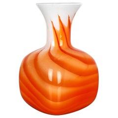Extra Large Vintage Pop Art Opaline Florence Vase Design, 1970s, Italy