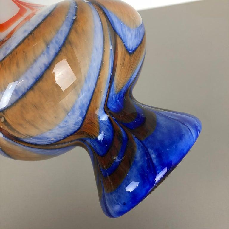Extragroße Vintage Pop Art Opaline Florence Vase Design von Carlo Moretti, Italien 10