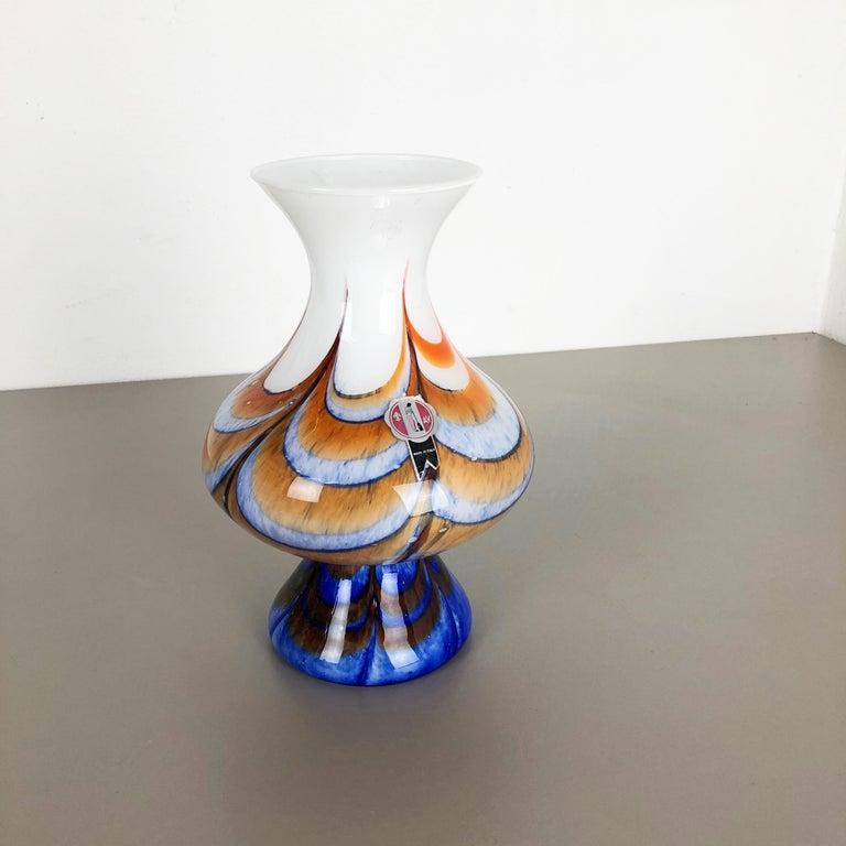 Extragroße Vintage Pop Art Opaline Florence Vase Design von Carlo Moretti, Italien 2