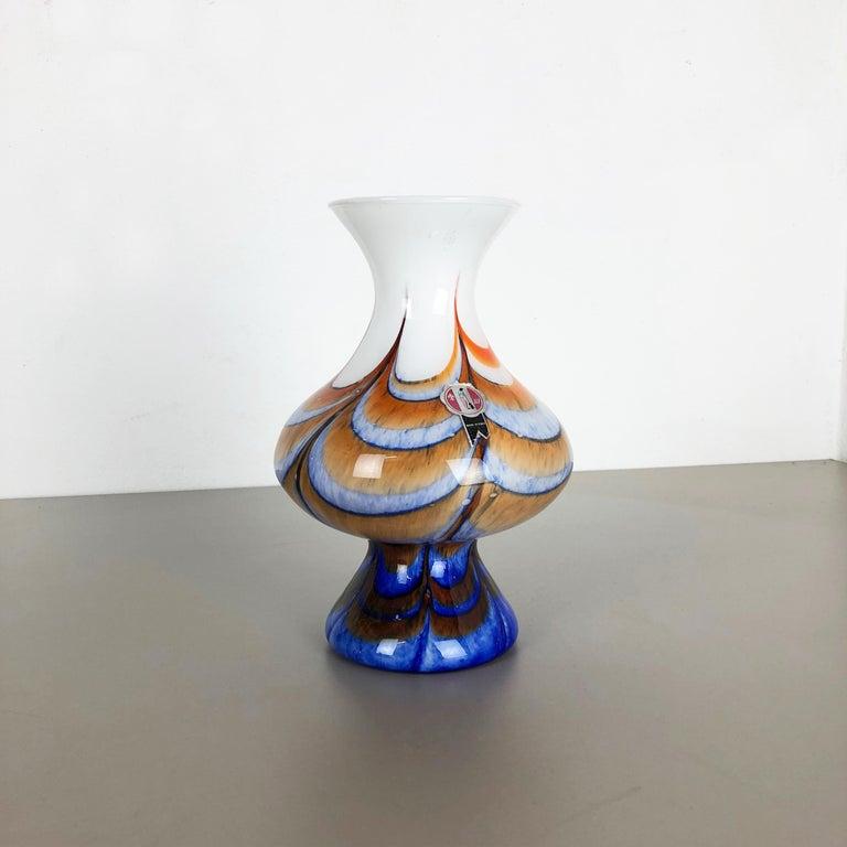 Extragroße Vintage Pop Art Opaline Florence Vase Design von Carlo Moretti, Italien 3