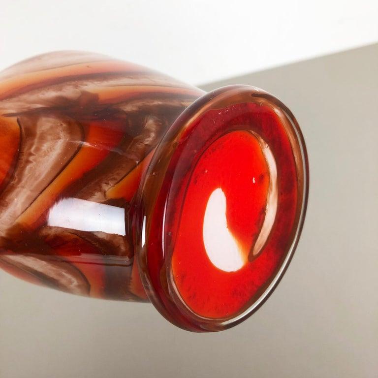 Italian Extra Large Vintage pop art Opaline Florence Vase Design 1970s, Italy For Sale
