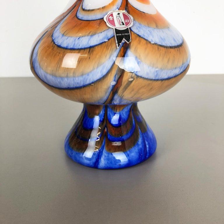 Extragroße Vintage Pop Art Opaline Florence Vase Design von Carlo Moretti, Italien 4