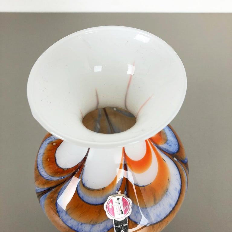 Extragroße Vintage Pop Art Opaline Florence Vase Design von Carlo Moretti, Italien 5