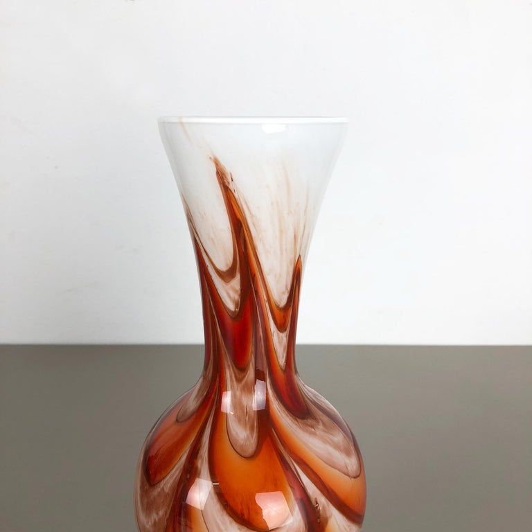 20th Century Extra Large Vintage pop art Opaline Florence Vase Design 1970s, Italy For Sale