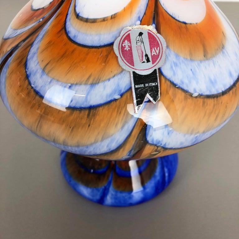 Extragroße Vintage Pop Art Opaline Florence Vase Design von Carlo Moretti, Italien 6