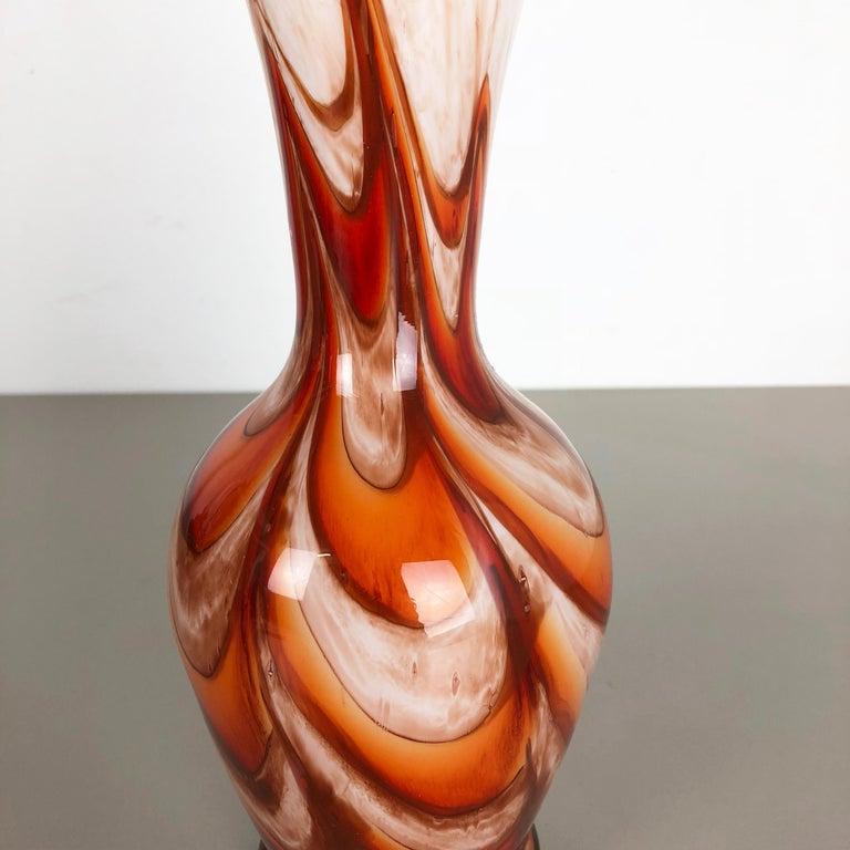 Glass Extra Large Vintage pop art Opaline Florence Vase Design 1970s, Italy For Sale