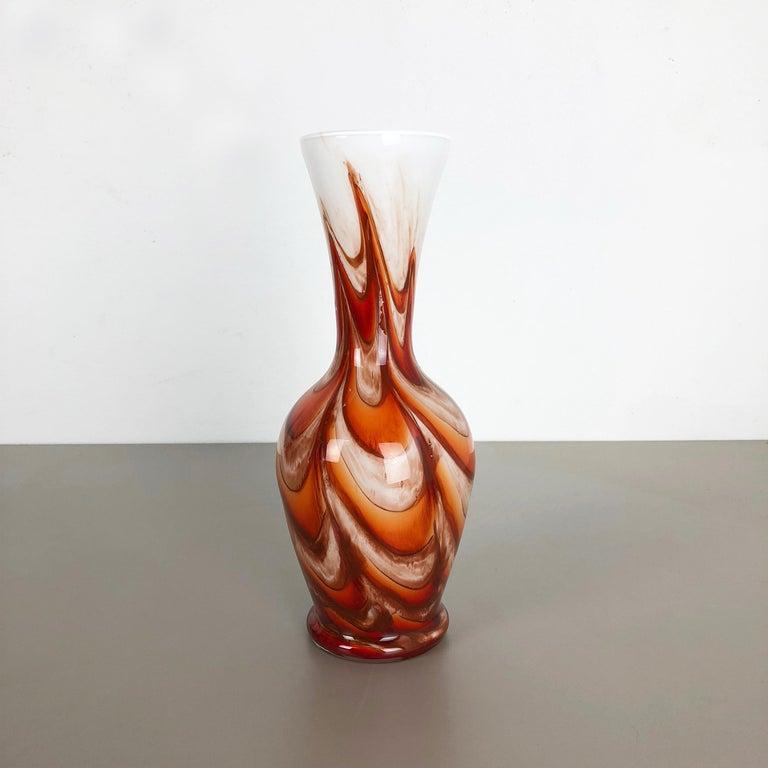 Extra Large Vintage pop art Opaline Florence Vase Design 1970s, Italy For Sale 1