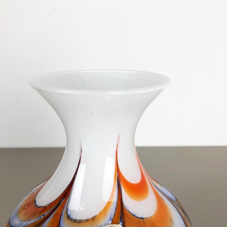 Extragroße Vintage Pop Art Opaline Florence Vase Design von Carlo Moretti, Italien 8