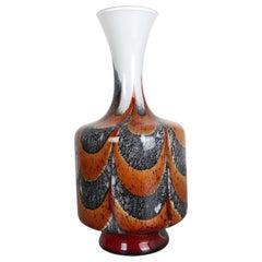 Extragroße Vintage Pop Art Opaline Florence Vase Design von Carlo Moretti, Italien