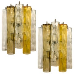 Extra Large Wall Sconces or Wall Lights Murano Glass, Barovier & Toso, 1960s