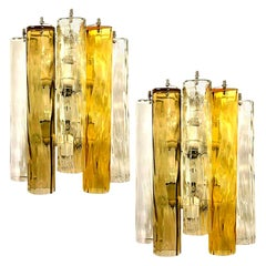 Extra Large Wall Sconces or Wall Lights Murano Glass, Barovier & Toso