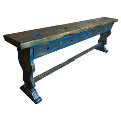 Extra Large Wooden Dutch 5 Drawer Console Table
