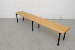 Extra Long Blonde Slat Bench