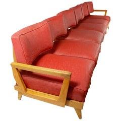 Extra Long Mid Century  Modular 6-Seat Sofa