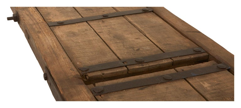 20th Century Extra Long Salvaged Truck Panel Table For Sale