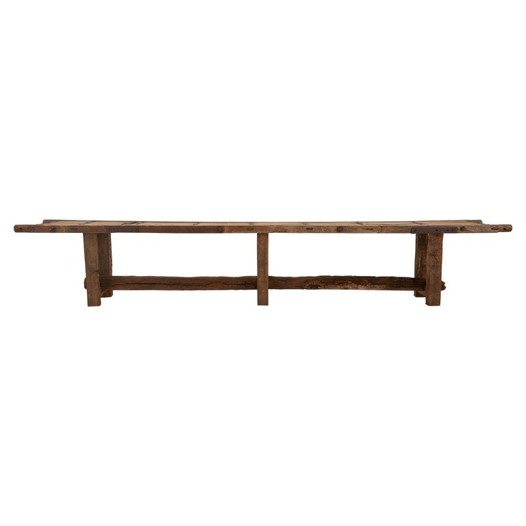 Extra Long Salvaged Truck Panel Table For Sale