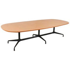 Extra Long Segmented Base Elliptical Table by Eames for Herman Miller