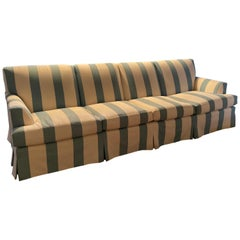 Extra Long Striped Sofa in Bennison Fabric by O. Henry House