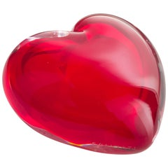 Extra Small Cuore Coccole Vase in Murano Glass by Maria Christina Hamel
