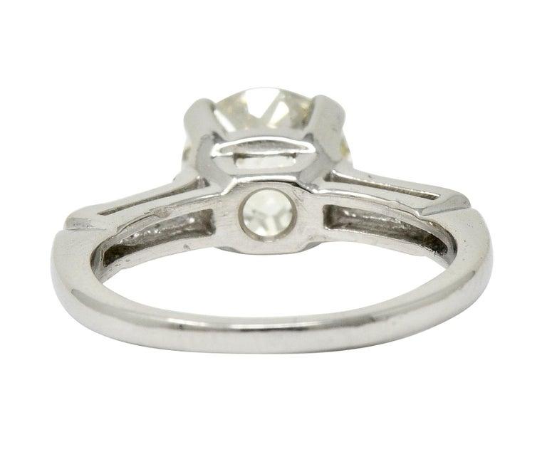Round Cut 1.82 Carat Jubilee Cut Diamond Platinum Engagement Ring GIA