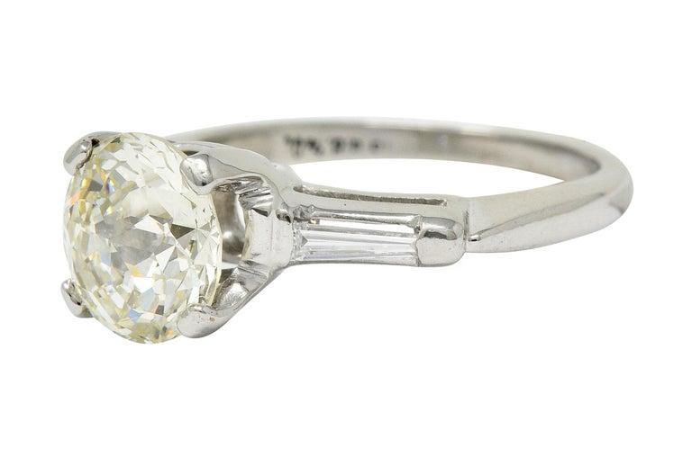 Women's or Men's 1.82 Carat Jubilee Cut Diamond Platinum Engagement Ring GIA