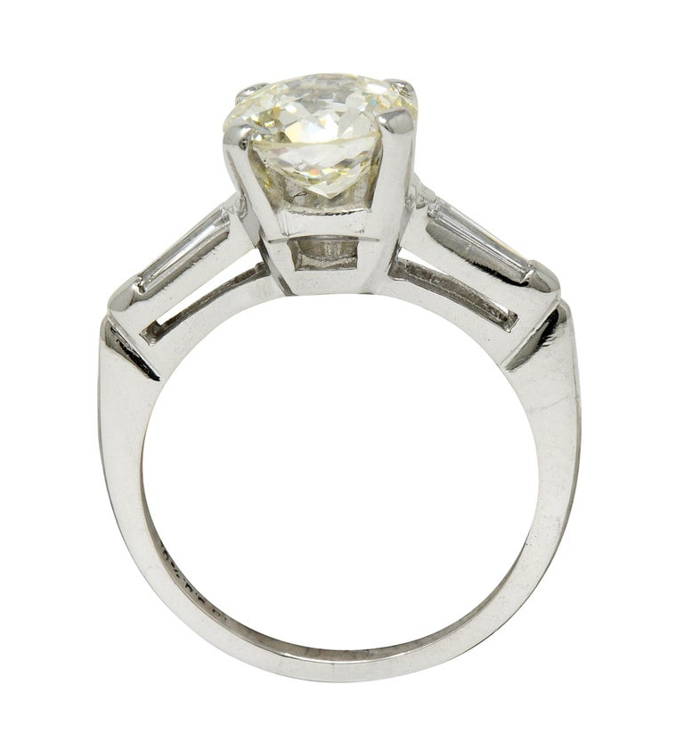 1.82 Carat Jubilee Cut Diamond Platinum Engagement Ring GIA 1