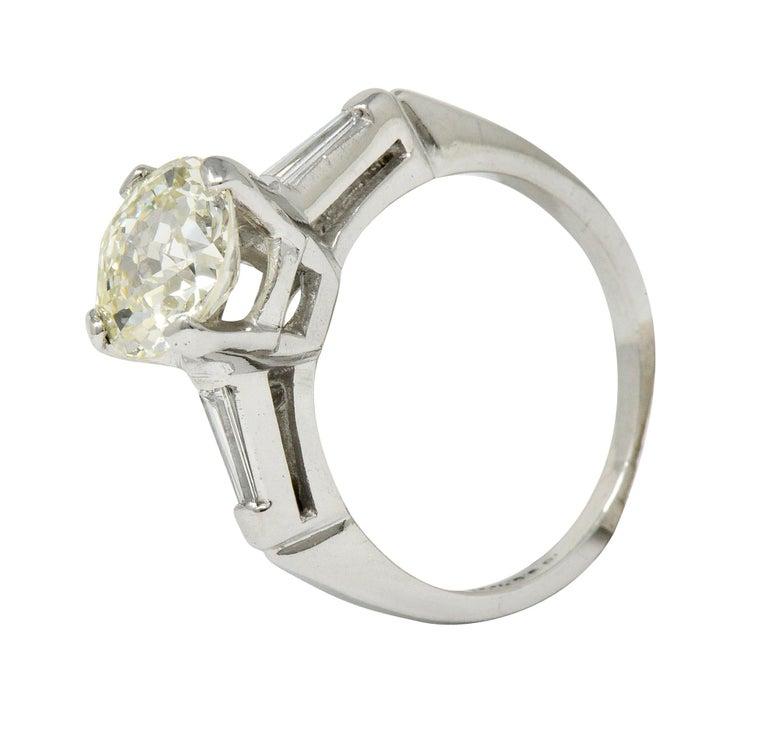 1.82 Carat Jubilee Cut Diamond Platinum Engagement Ring GIA 2